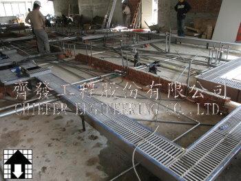 厨房不锈钢排水沟安装-厨房设备